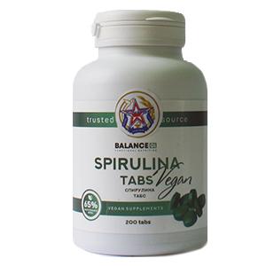 """Спирулина табс""-бад для нормализации обмена веществ, источник витамина B12, хлорофилла, фикоцианина."